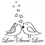Sticker  love sweet love WLES16