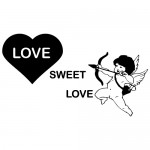 Sticker love sweet love WLES17