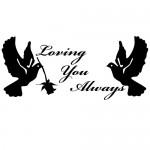 Sticker perete loving you WLES19