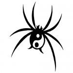 Sticker paianjen yin yang WLAN21