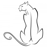 Stickere pisica WLAN25