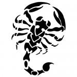 Sticker scorpion WLAN27