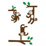 Sticker maimute in jungla WCA833